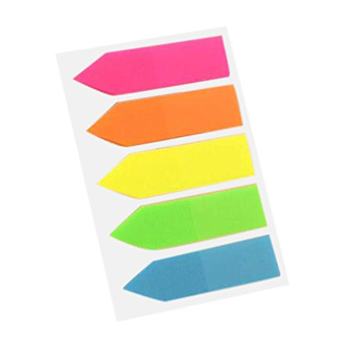Double Sided Tab Dispenser - Gbell Fluorescent Classification Index Paste Label Stickers Marker Memo Flags Pad Tab Stationery for Boys,Girls,Adults (B)