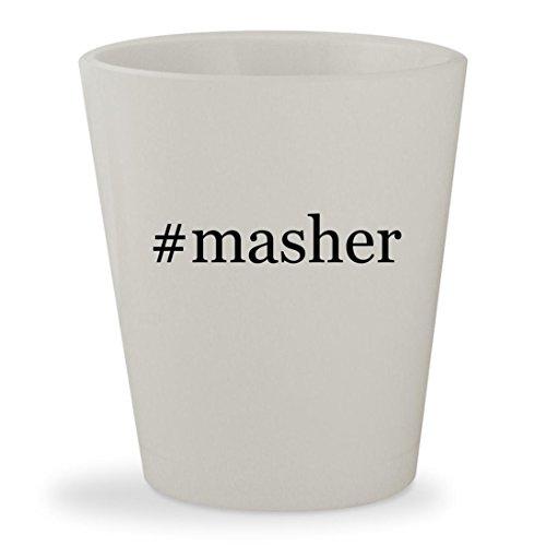 #masher - White Hashtag Ceramic 1.5oz Shot Glass