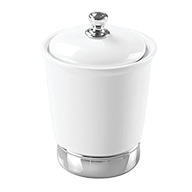 InterDesign York Canister, White and Chrome