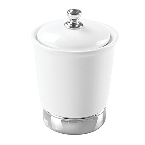 InterDesign York Canister, White and (Porcelain White Accessories)