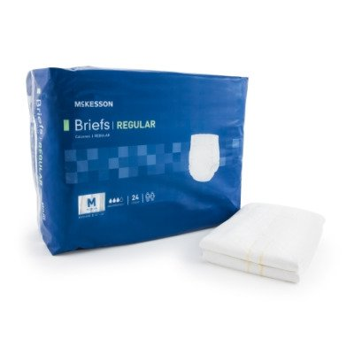 McKesson Regular Adult Incontinent Brief, Tab Closure, Disposable, Medium Absorbency, Medium (32