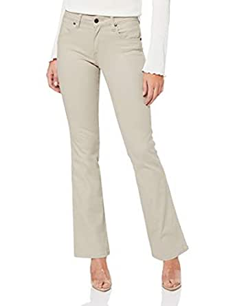 Wrangler Women's M'Skin Bootcut Jean, Chamois, Regular-10