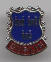 Dublin Ciudad Irlandés Irlanda Bandera Pin Insignia 1000 Flags