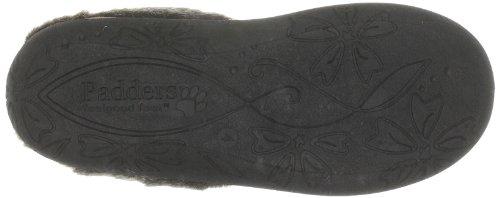 Padders Anika - Zapatillas de casa de tela para mujer Marrón