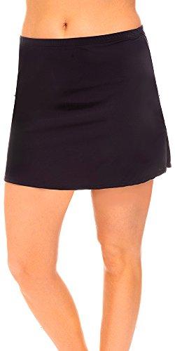 swimsuitsforall Women's Side Slit Skirt 14 Black