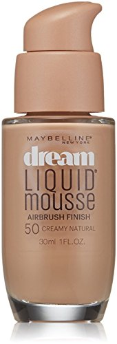 Maybelline Dream Liquid Mousse Airbrush Foundation, Creamy Natural Light [5] 1 oz ()