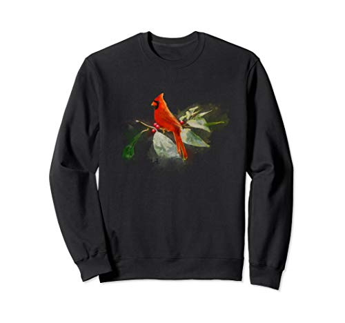 Wild Red Cardinal Bird Sweatshirt