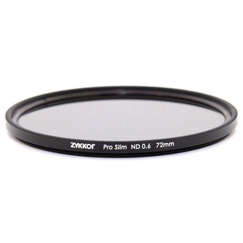 Zykkor 72mm Pro Slim Neutral Density ND4 0.6 ND 4 Optical Glass Filter