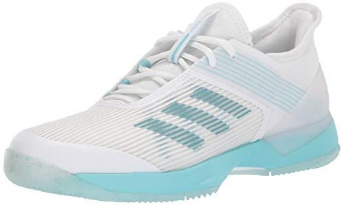 adidas Women's Adizero Ubersonic 3, Blue Spirit White, 6 M US
