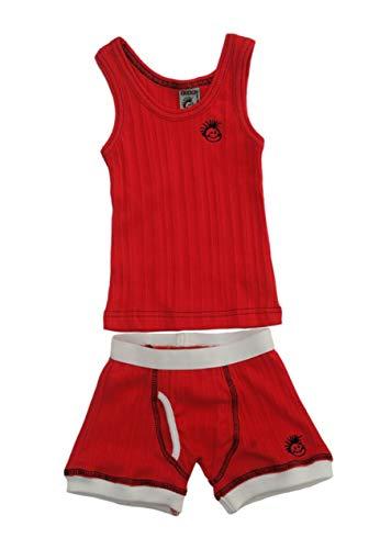 - Knuckleheads - Skivvies Baby Underwear Set - Red - 2T