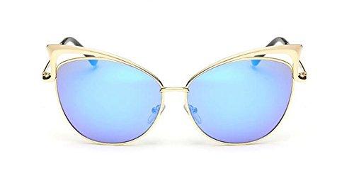 Soleil Polarisées Style Lunettes Rond et du Métallique Hommes de Retro Inspirées Femmes en Bleu Mercure Steampunk Cercle Pour HAxfp