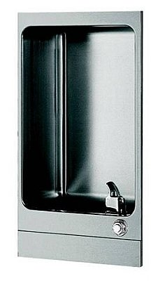(Oasis F240PM Drinking Fountain, Inverted (Drain Pipe 90o), Fully Recessed, Non-Refrigerated, Front Push Button, ADA)