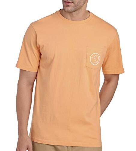 (Duck Head Men's Pima Cotton Short Sleeve Logo Pocket Tee (Medium, Clemson Orange))