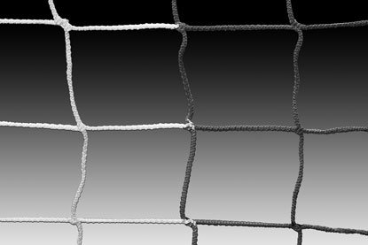(Kwik Goal 8' x 24' Soccer Net 3MM 120MM Mesh - Black/White Striped)