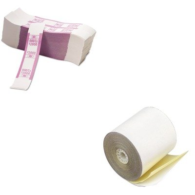 KITPMC08963PMC55032 - Value Kit - Pm Company Paper Rolls (PMC08963) and Pm Company Color-Coded Kraft Currency Straps (PMC55032)