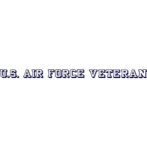 (U.S. Air Force Veteran Clear Window Strip)