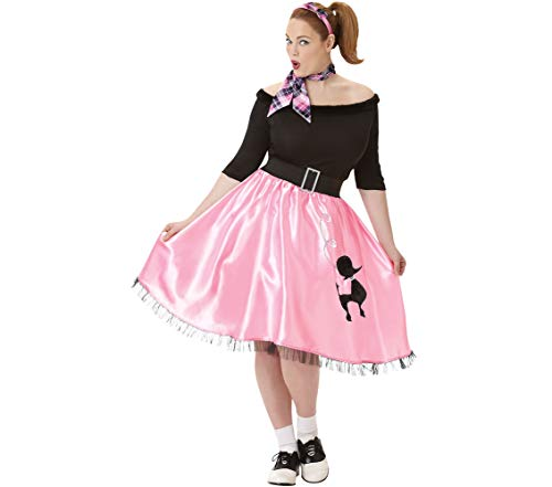 (AMSCAN Sock Hop Sweetie 50's Halloween Costume for Women, Plus Size, with Included)