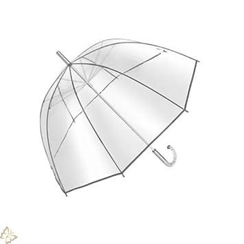 Paraguas con forma de campana pantalla 101 cm transparente transparente