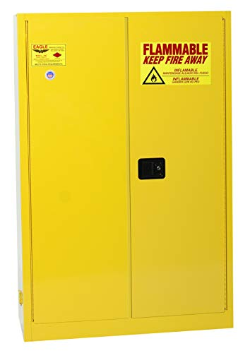 Eagle Safety Storage Cabinets - Eagle 1947 Safety Cabinet for Flammable Liquids, 2 Door Manual Close, 45 gallon, 65