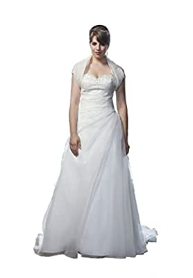 Plus-Size Organza Wedding Dresses for Bride Gowns Ball Formal Dress with Jacket