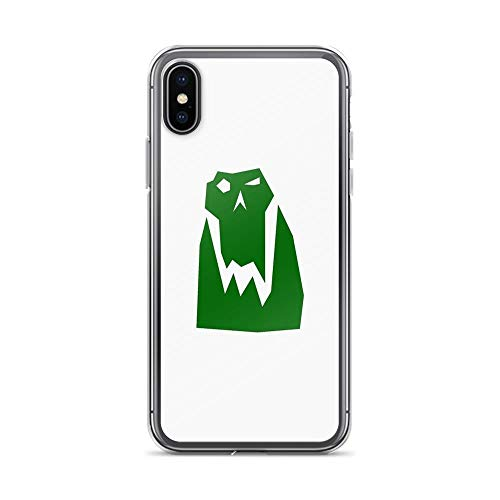 iPhone X Case iPhone Xs Case Clear Anti-Scratch Orc Head (Green), orc Cover Phone Cases for iPhone X/iPhone Xs, Crystal -