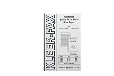 Kleer-Fax Tare-Shield Mylar Reinforced Filler Paper, Unruled, 50# White Offset, 8-1/2 x 5-1/2 Inches, 100 Sheets per Pack, 20085