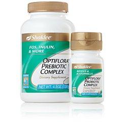 Shaklee Optiflora Prebiotic Complex (Powder) 4.3 Oz, and Shaklee Optiflora Probiotic Complex 30 Capsules (Pack of 2)