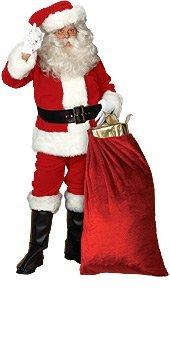 Rubie's Adult Crimson Imperial Plush Santa Claus Suit | S...