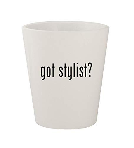 got stylist? - Ceramic White 1.5oz Shot Glass