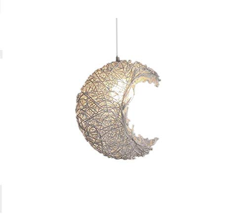 (Oudan Rattan Chandelier Lights Botanical Creative Personality Cafe Restaurant Dippet Bedrooms The Lounge Veranda is Obvious, and The Moon Chandelier, 3 (Color : 3))