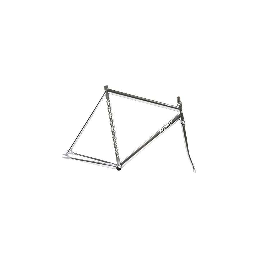 AFFINITY PURSUIT LOPRO Chromoly MD 54cm w/Fork Gray with Brake Hole Fixed Gear Track Messenger