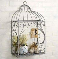 Decorative Large Metal Arbor Trinket Wall Shelf