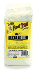 One 22 oz Bob's Red Mill Light Rye Flour by Bob's Red Mill
