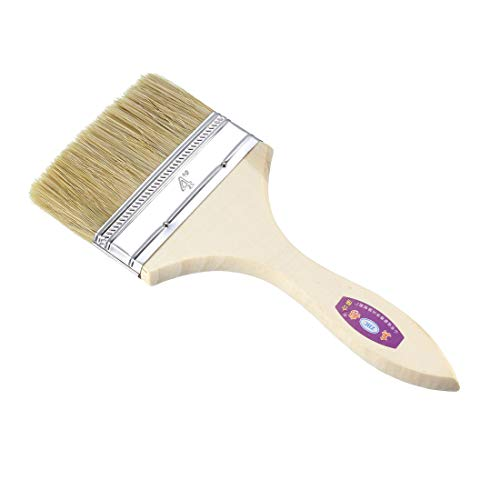 uxcell 4 Inch Chip Paint Brush Synthetic Bristle with Wooden Handle for Wall Treatment 24pcs