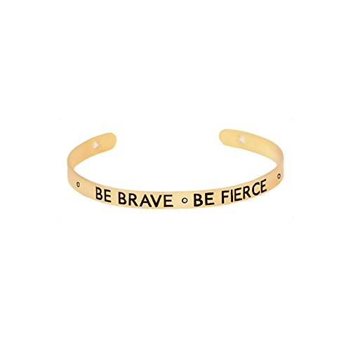 BE-BRAVE-BE-FIERCE-Positive-Bangle-BraceletInspirational-Message-Jewelry-for-Men-WomenGift-for-Thanksgiving-Day