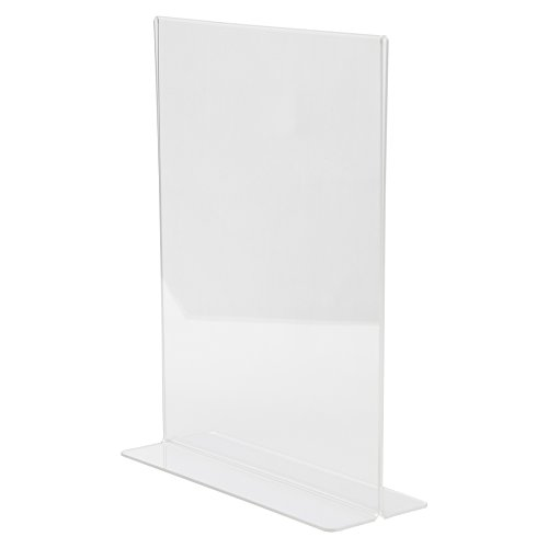 (Clear-Ad - Double Sided Acrylic Sign Holder 8x10 - Two Sided Table Menu Card Display Stand - Plastic Picture Frames - Photo Frame 8 x 10 - LHC-810 (Pack of 6))