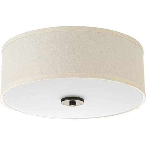 - Progress Lighting P3696-2030K9 Inspire One-Light LED Flush Mount, Antique Bronze