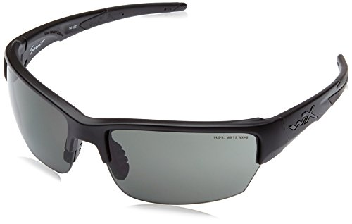 Wiley Prescription Lenses X (Wiley X 1925588 Smoke Grey Clear Light Rust/Matte Black Hunting Safety Glasses)
