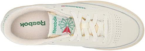 31 6ne ZdYL. AC Reebok Women's Club C 85 Vintage Sneakers    ImportedRubber soleShaft measures approximately low-top from archDURABLE AND LIGHTWEIGHT MATERIAL: These sneakers feature soft garment leather upper for full-foot support with terry lining on tongue top and heel for comfort with vintage woven Reebok label that adds appeal and styleEFFICIENT FOOT SUPPORT: Die-cut EVA midsole absorbs impact and a padded foam sockliner provides responsive cushioning support which lasts many strolls and jogsCOMFORTABLE AND STURDY DESIGN: Low-cut design gives a sleek and sophisticated silhouette with freedom of motion and quicker transition keeps you moving all day longHIGH-PERFORMANCE CASUAL SHOES: High abrasion rubber outsole adds durable responsiveness; Ideal for daily, casual and athleisure wear