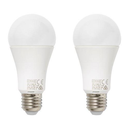 Bombilla LED RYET - E27 1000 lúmenes, globo Ópalo blanco