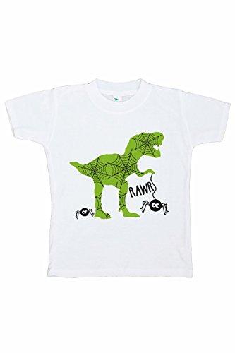 7 ate 9 Apparel Boy's Dinosaur Halloween T-Shirt 4T Black ()