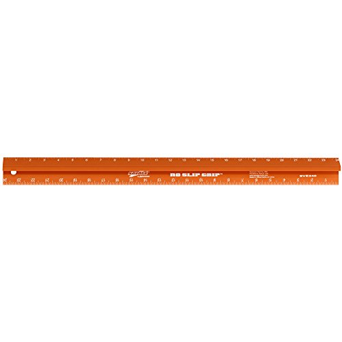 Safety Ruler Cutting Straight Edge - Swanson SVE240 24-Inch Savage Straight Edge, Non-marring, Anodised and Laser-Etched Scale