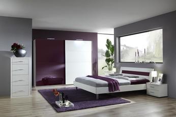 Schlafzimmer Komplett Design Livia Erwachsene Farbe Bordeauxweiss