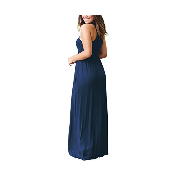 7428a67947d6 HomeFashionWomen's GRECERELLE Women's Sleeveless Racerback and Long Sleeve Loose  Plain Maxi Dresses Casual ...