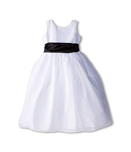 Us Angels Girl's Sleeveless Organza Dress (Big Kids) Black 1 Dress 12 (Big Kids)