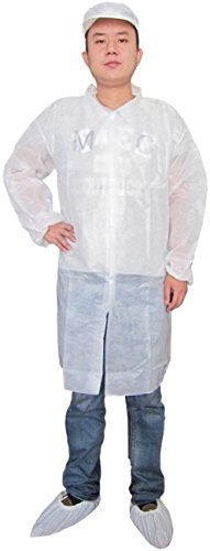 Keystone LC0-WE-NW-4XL Polypropylene Lab Coat, Small 4X-Large, White (Case of 30)