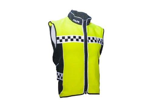 Equisafety Think Bike Air Adjustable Polite Waistcoat - High Viz Yellow/Black, Large/(42-44 Inch)