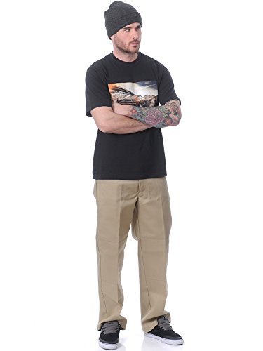Dickies Hombres Pantalones / Chino Double Knee Work beis