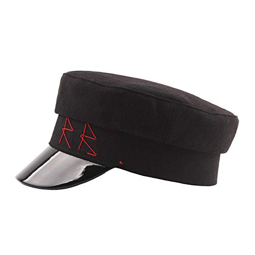 DEATU Hat Cap Clearance, Woman Man Unisex Vintage Classic Herringbone Tweed Cotton Blend Newsboy Hat (c-Black) -