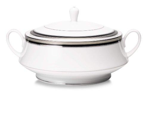 Noritake Austin Platinum Covered Vegetable Serving Bowl (Vegetable Round Bowl Covered Platinum)